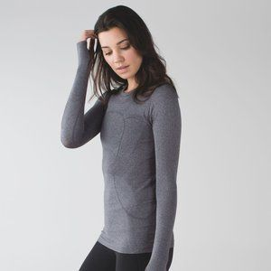 lululemon Swiftly Tech LS Heathered Blk *Pattern